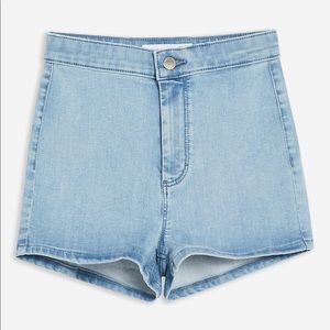 TOPSHOP Joni shorts light wash